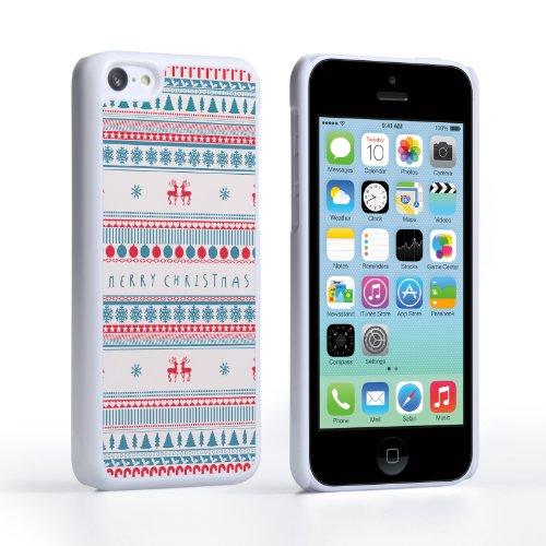 Caseflex iPhone 5C Hülle Frohe Weihnachten Rentier Schneeflocke Hart Schutzhülle