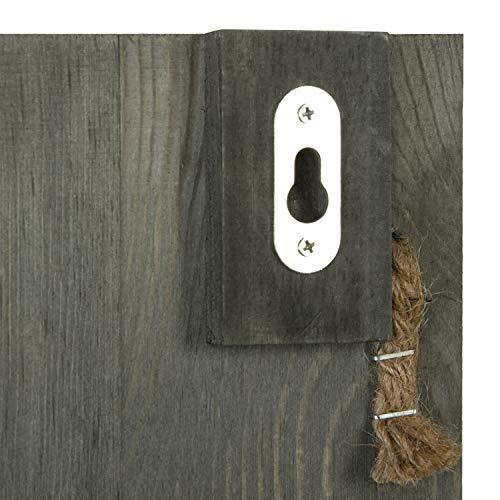 Amazon.com: MyGift - Revistero de madera de color gris con 3 ...
