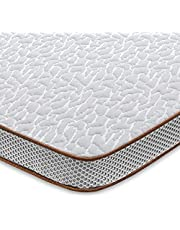 BedStory Memory Foam Mattress Topper, High Density Cooling Bed Mattress Topper Pad with Hypoallergenic Removable Fitted Cover- CertiPUR-US- Ventilated Design