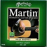Martin M180 80/20 Bronze 12-String Acoustic Guitar Strings, Extra Light, Best Gadgets