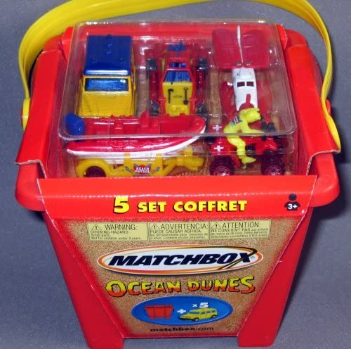 Matchbox Sand Castle Rescue Team 5-pack with Bonus Bucket by Matchbox: Amazon.es: Juguetes y juegos