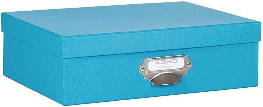 S.O.H.O./-/Bo/îte de rangement en carton avec poign/ée menthe