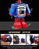 Transformer Watches for Boys - Creative Digital Calendar Cartoon Kids Watches, Red