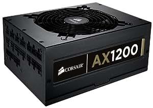 Corsair AX1200 Professional Series AX - Fuente de alimentación (1200 W, ATX y EPS, 80 PLUS Gold)