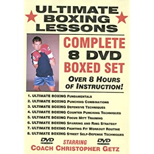 """Ultimate Boxing Lessons"" COMPLETE 8 DVD BOXED SET, Starring Boxing Coach Christopher Getz 5"