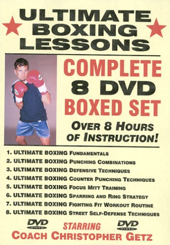 ''Ultimate Boxing Lessons'' COMPLETE 8 DVD BOXED SET, Starring Boxing Coach Christopher Getz by Master Media Video