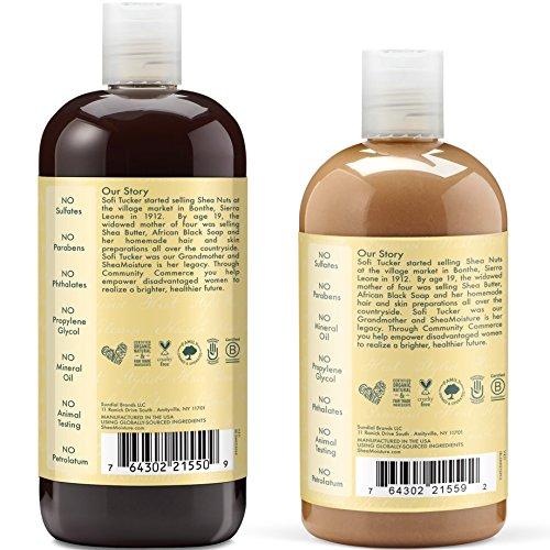 Shea Moisture  Strengthen, Grow & Restore Shampoo and Conditioner Set, Jamaican Black Castor Oil Combination Pack, 16.3 oz Shampoo & 13 oz. Conditioner by Shea Moisture (Image #2)