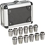 Dorian Tool ER20 Alloy Steel Ultra Precision Collet Set, 0.039'' - 0.511'' Hole Size (Set of 12)