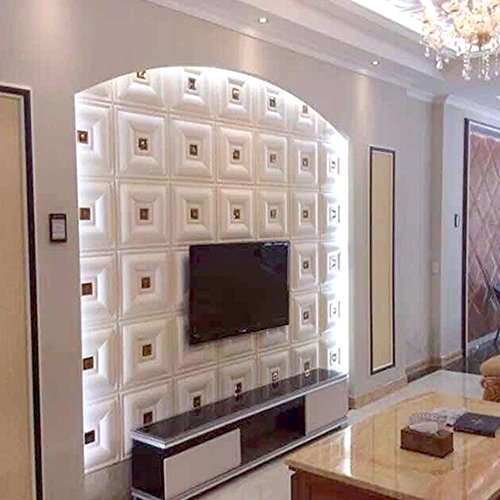 Cheap  yazi Peel and Stick Adhesive Wall Panels Soft Leather Wallaper for Living..