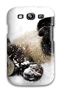 New Premium Flip Case Cover Baby Panda In The Snow Skin Case For Galaxy S3