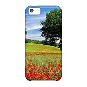 Top Quality Case Cover For Iphone 5c Case With Nice Field Of Poppies In Toscana Appearance