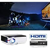 CAIWEI 4200lumen LED Digital Multimedia Video Projector 1080P 5.8 TFT LCD 200 Home Theater Projector Outdoor Movies Projectors with HDMI*2/USB*2/3.5mm Audio/VGA for Fire TV Stick DVD PS4 Wii PC