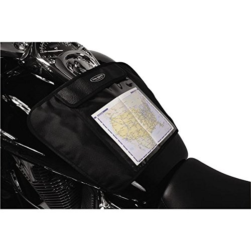 (Dowco Iron Rider 50116-00 Water Resistant Magnetic Motorcycle Map Pocket with Window: Black, Universal Fit)
