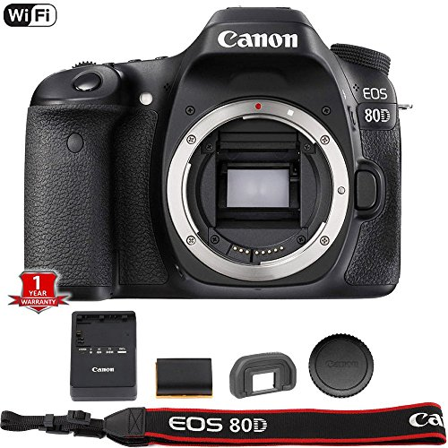 Canon EOS 80D Digital SLR Camera Body (Black) (International Model) No -