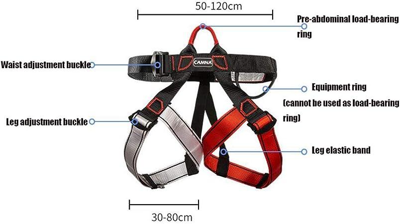 cintura di sicurezza multiuso per arrampicata su roccia imbracatura da arrampicata alpinismo cintura di sicurezza regolabile a met/à corpo Imbracatura da arrampicata di alta qualit/à lavoro aereo.