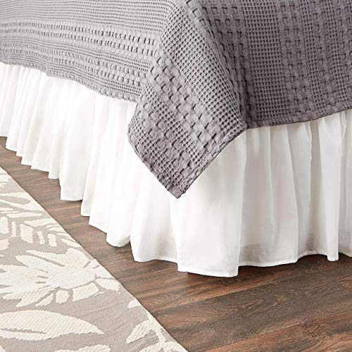 Greenland Home Cotton Voile Dust Ruffle, 18-inch L, White from Greenland Home