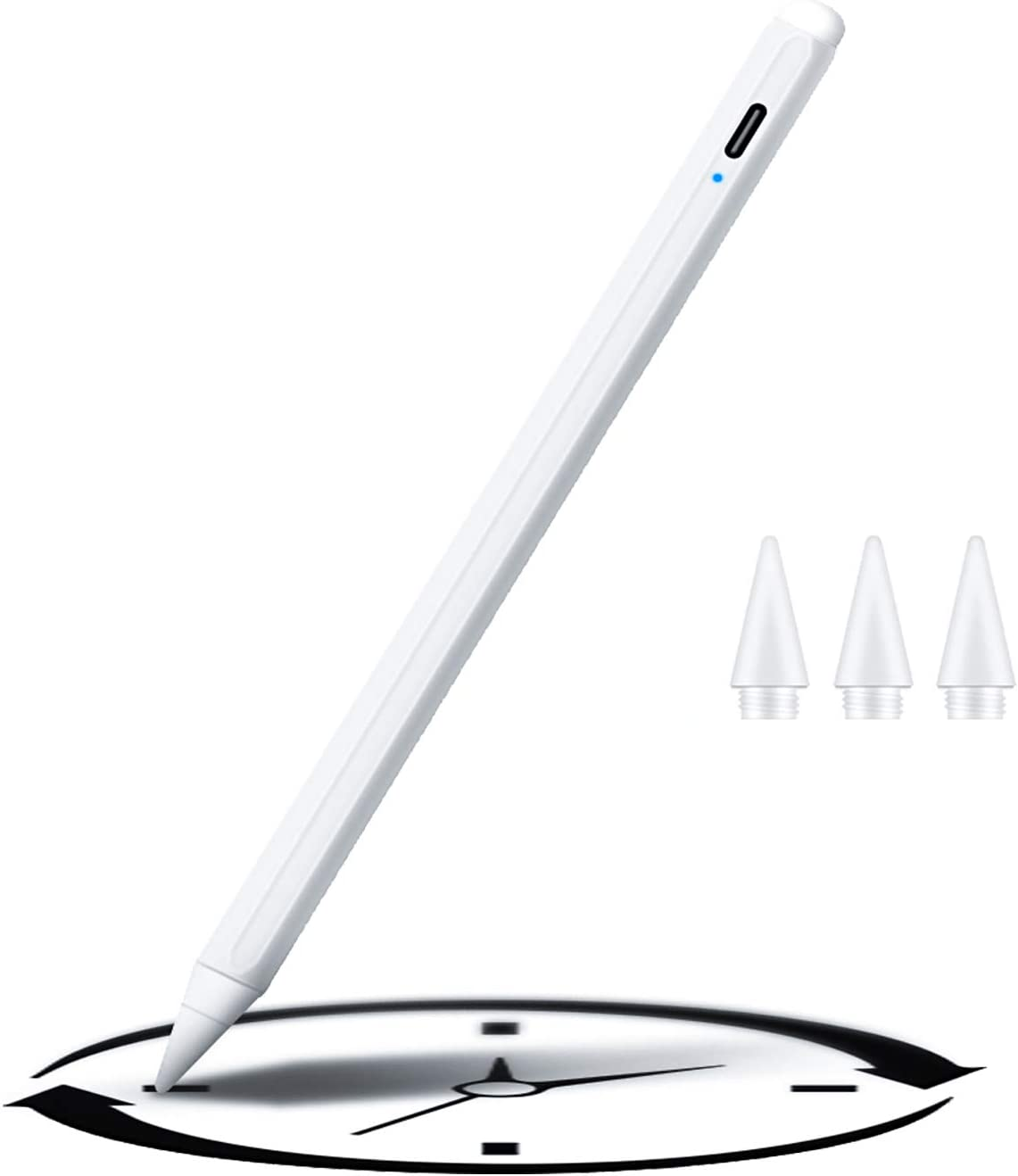 Lythor iPad Active Capacitive Pen iPad Stylus with 3 Replaceable Nib iPad Pencil for iPad Series (3RD, White)