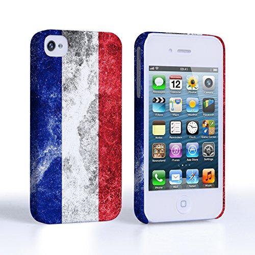 Caseflex Coque iPhone 4 / 4S Rétro France Drapeau Dur Housse