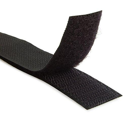 1.5'' Black Sew On Hook and Loop - 5 Yds of Hook and 5 Yds of Loop Per Package 5 Yd by Generic