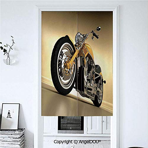 AngelDOU Motorcycle Japanese Durable Doorway Curtains Iron Custom Aesthetic Hobby Motorbike Futuristic -