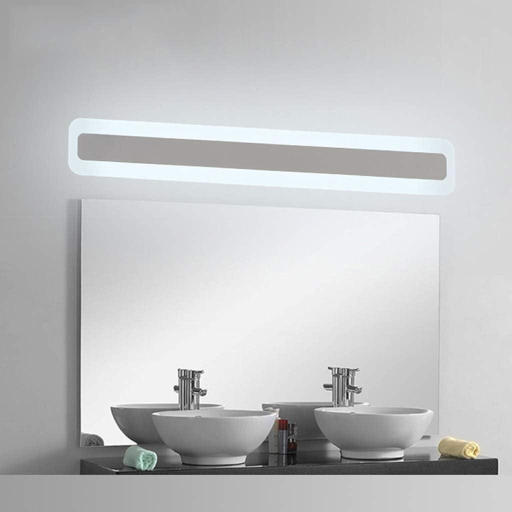 & Spiegellampen Mirror Front Light - Flacher Acryl-LED-Spiegel mit wasserdichter hoher Badezimmer-Lichtwandleuchte (Edition : Warm light-60cm) White Light-52cm