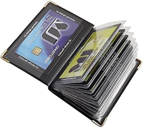 D/ésign 2 // Saumon Porte de Cartes de cr/édit 12 Compartiments MJ-Design-Germany Made in UE en diff/érentes Couleurs et Designs