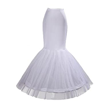 01de780ed3930 Liying Women A Tulle Layer Hoop Mermaid Petticoat Underskirt Crinoline  Skirt Slip For Wedding Party Dancing Fancy Dress Prom Gown: Amazon.co.uk:  Clothing