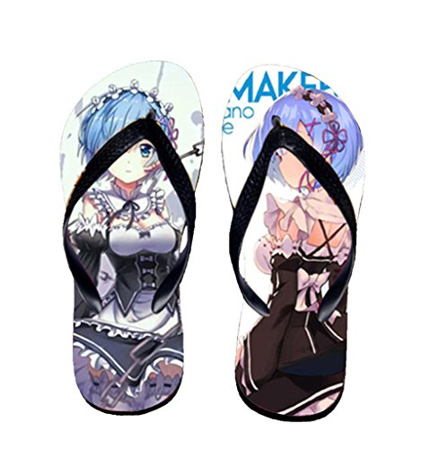 Bromeo Life in a different world from zero Anime Unisex Flip Flops Chanclas 799