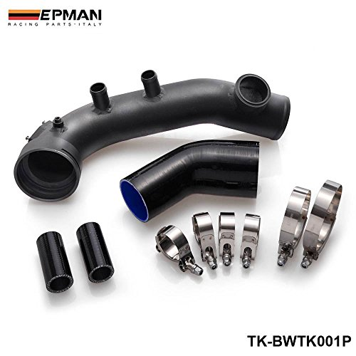 EPMAN Intake Turbo Charge Pipe Cooling Kit For BMW N54 E88 E90 E92 135i 335i (Black) by EPMAN