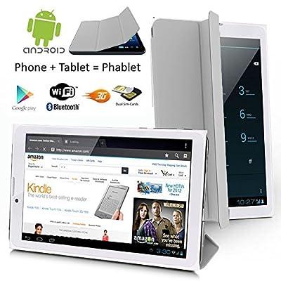 Indigi Ultra Slim 7.0in 3G SmartPhone Android 4.4 Tablet PC w/ Built-in Smart Cover (ATT TMobile Unlocked)