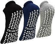Non Slip Anti Skid Socks with Grips for Yoga Pilates Barre Fitness, Hospital Home Sticky Slipper Socks for Wom