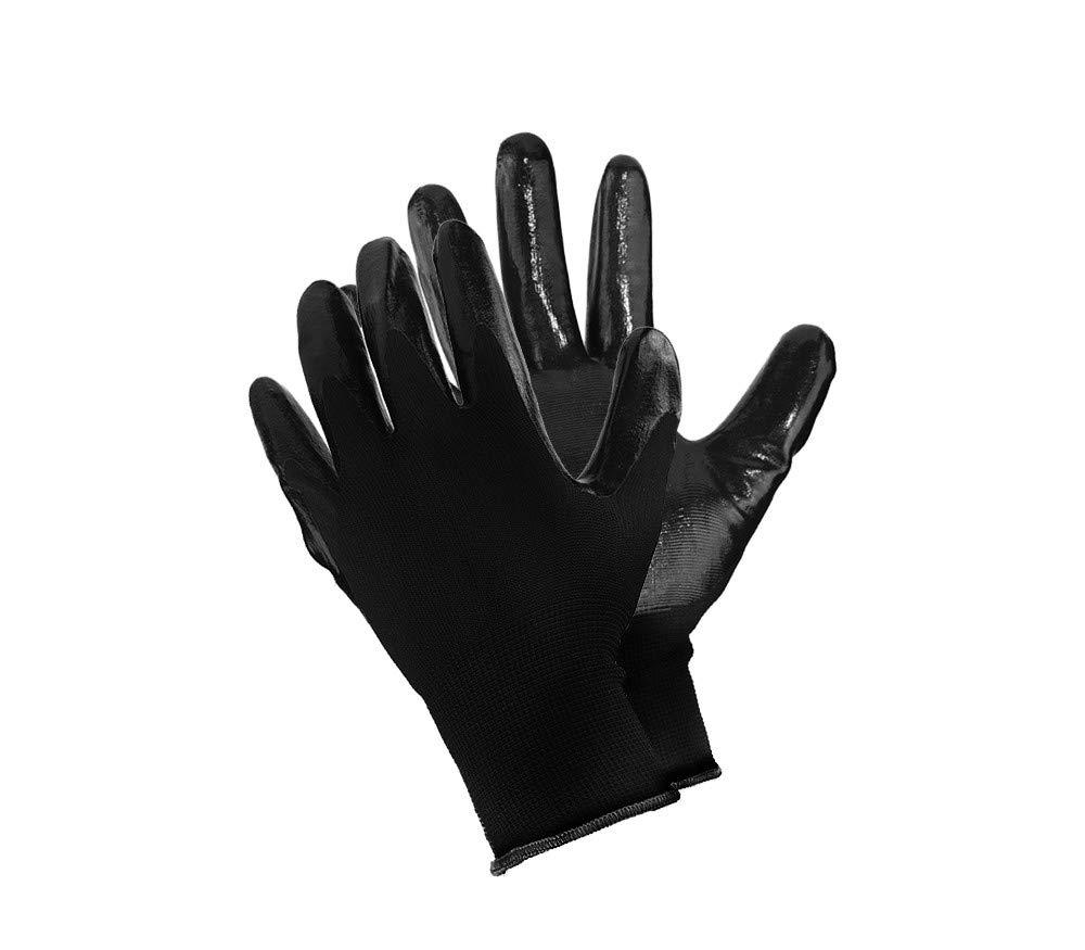Guantes de trabajo con recubrimiento de nitrilo, guantes de caucho, guantes anticorte y antideslizantes, guantes de protecció n guantes de protección ZEESHOP