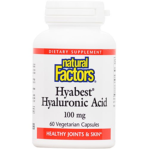 Natural Factors - Hyabest Hyaluronic Acid, Supports Healthy Joints & Skin, 60 Vegetarian Capsules by Natural Factors