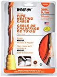 WRAP-ON Pipe Heating Cable - 30-Feet, 120 Volt, Built-in Thermostat, Low Wattage - 31030