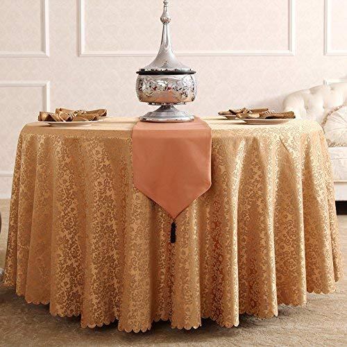 Shuangdeng テーブルクロス、ポリエステルテーブルクロス、ブラウンジャカードラウンドテーブルクロスユニークパーティーディナーテーブル、レストラン、カフェ、ホテル、ヨーロッパ風 (サイズ : Rond-260cm) Rond-260cm  B07SBD33KH