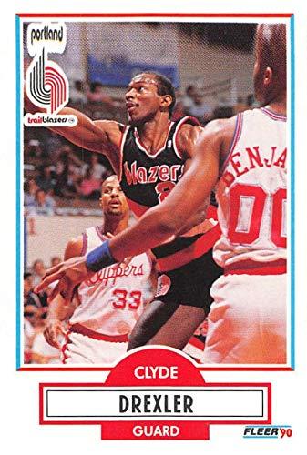 1990-91 Fleer Basketball #154 Clyde Drexler Portland Trail Blazers Official NBA Trading Card ()