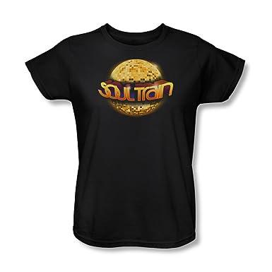 Soul Train Frauen Disco Ball T Shirt In Schwarz Large Black