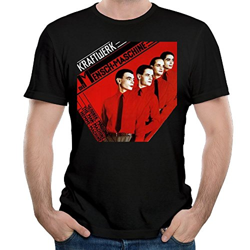 MeganHarveyss Man's Kraftwerk Particular Short Sleeve Top T-Shirt Boy Vintage Shirt XL