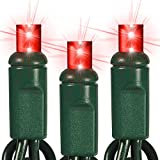 25 ft. Stringer - (50) Wide Angle LED's - RED - 6 in. Spacing - Omni-Directional - Commercial Duty - Green Wire - 60 Set Connection