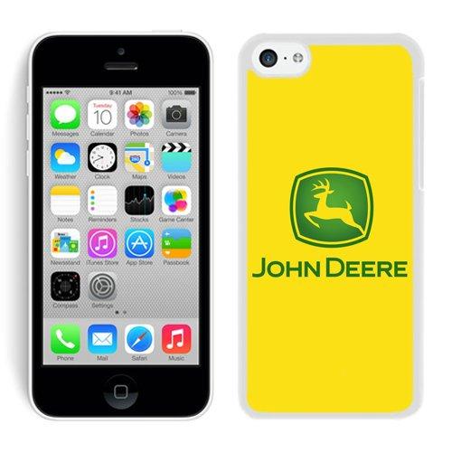 John Deere Logo 4 White Shell Case for iPhone 5C,Luxury Cover (John Deere Phone Cases 5c)