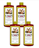 Cole's 4-pack of 16oz Faming Squirrel Seed Sauce w/  Natural & Super Hot Nutritional Birdseed Supplement Deters Squirrels, Attracts Bluebirds, Cardinals, Wrens, Buntings, Finches and Most Songbirds
