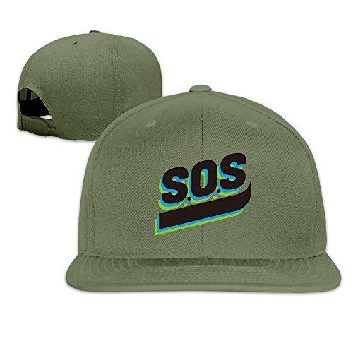 SOS Personality Art Cap Hat Cute Solid Flat Bill Hip Hop Snapback Baseball Cap HAILIN - 14 Moncler
