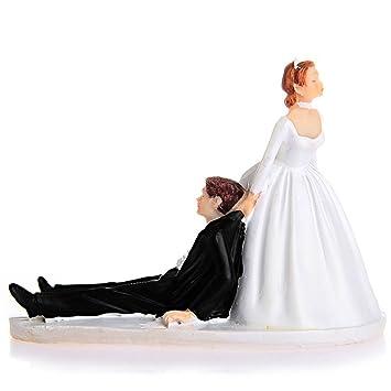 a75342e11691c cyndie ケーキトッパー ウエディング ロマンチック ケーキ飾る用品 超おもしろい ウェディング フィギュア 結婚式 周年記念