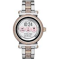 Kors acceso 'Sofie de la mujer visualización táctil acero inoxidable de cuarzo reloj Casual, color: rosa tono dorado (modelo: mkt5040)