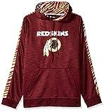 NFL Washington Redskins Slub Hoodie Pullover with Zebra Sleeves , Team Color, X-Large