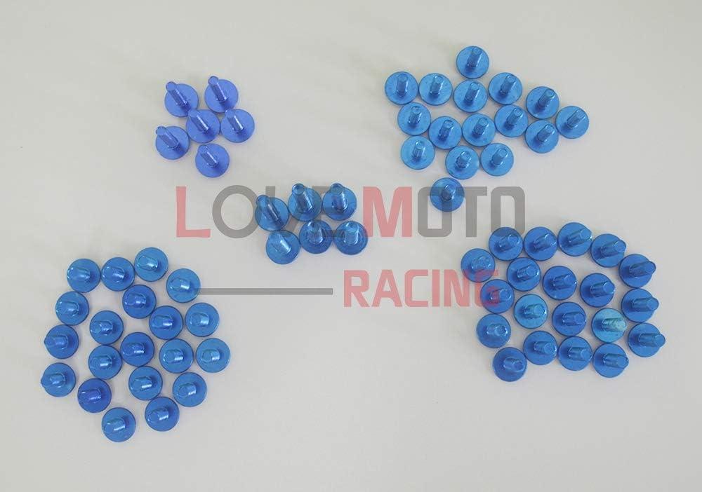 LoveMoto Kompletter Motorrad-Schraubensatz f/ür die Verkleidung ZX6R ZX-6R Ninja 636 2005 2006 Alu-Schrauben Befestigungsklammern Blau Silber