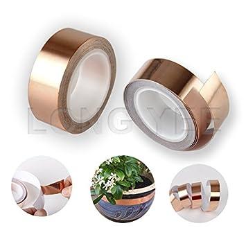 Cinta autoadhesiva de lámina de cobre resistente y de buena calidad, ideal para