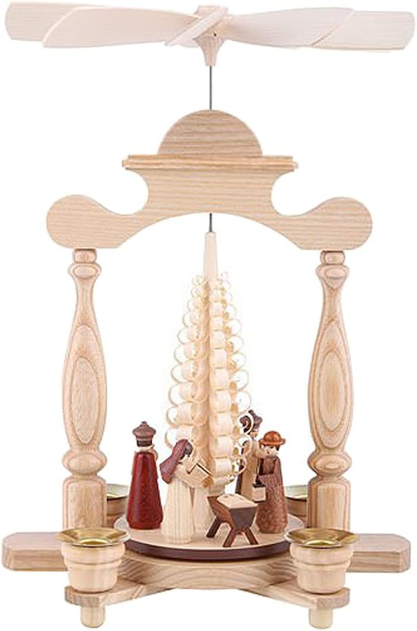 Müller Pirámide de Navidad Nacimiento de Cristo, un Piso, 30 cm. de Alto, Natural, Original de los Montes Metálicos (Erzgebirge) Hecho por la Empresa Pueblo de Seiffen: Amazon.es: Hogar