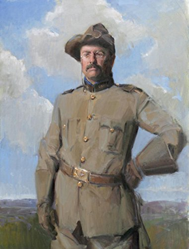 Gifts Delight Laminated 24x31 Poster: Portrait of President Theodore Roosevelt by Michael Shane Neal - The Studio of Portrait Artist