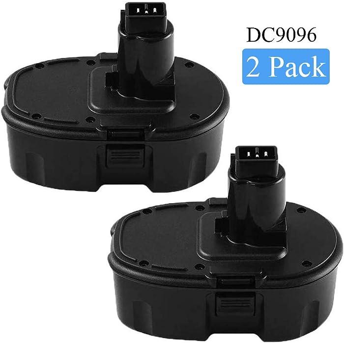 DC9096 Replacement for Dewalt 18v Battery 3.6Ah XRP DC9098 DC9099 DE9098 DE9503 DW9095 DW9096 DW9098 DW9099 18 Volt Cordless Power Tools 2 Packs